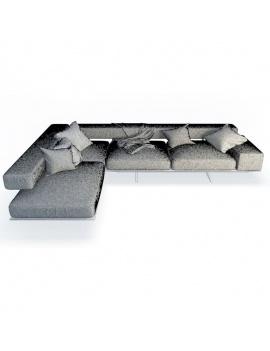 wing-corner-sofa-flexform-3d-wireframe