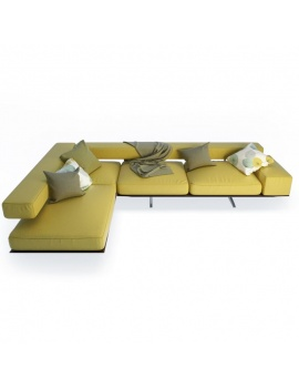 Wing Corner Sofa 3d Models
