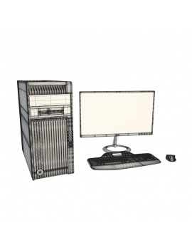 teenager-desk-and-office-supplies-3d-computer-screen-wireframe