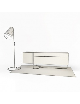 relax-composition-armchair-3d-carpet-sideboard-lamp-wireframe