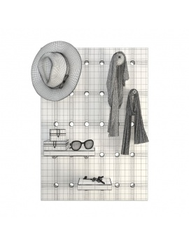 shelves-for-clothing-accessories-3d-wireframe