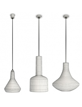 3-glass-pendant-lights-3d-wireframe