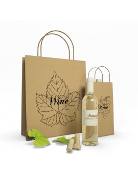 Paper bags and Wine 3d Models