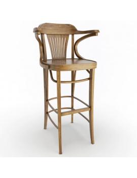 classic-iria-wooden-furniture-3d-barstool