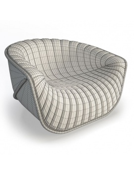 nautil-armchair-roche-bobois-3d-wireframe