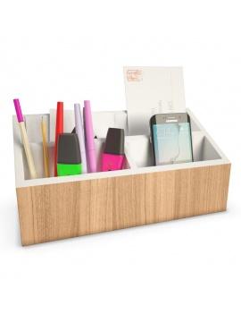 office-supplies-3d-horizontal-organizer-pencils