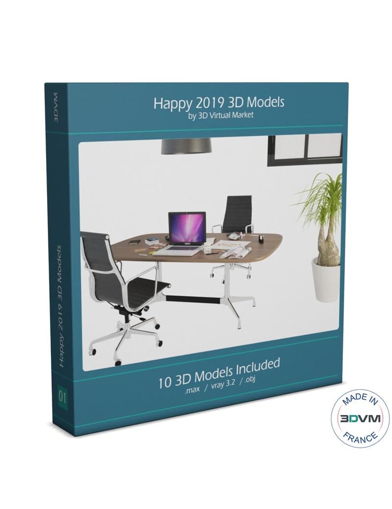 collection-happy-2019-modeles-gratuits-3d