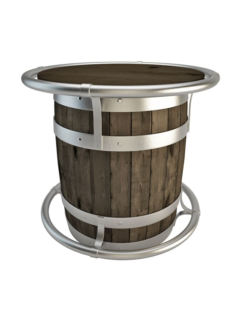 table-wooden-barrel-3d