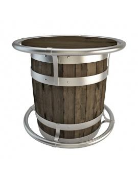 table-tonneau-de-bar-3d
