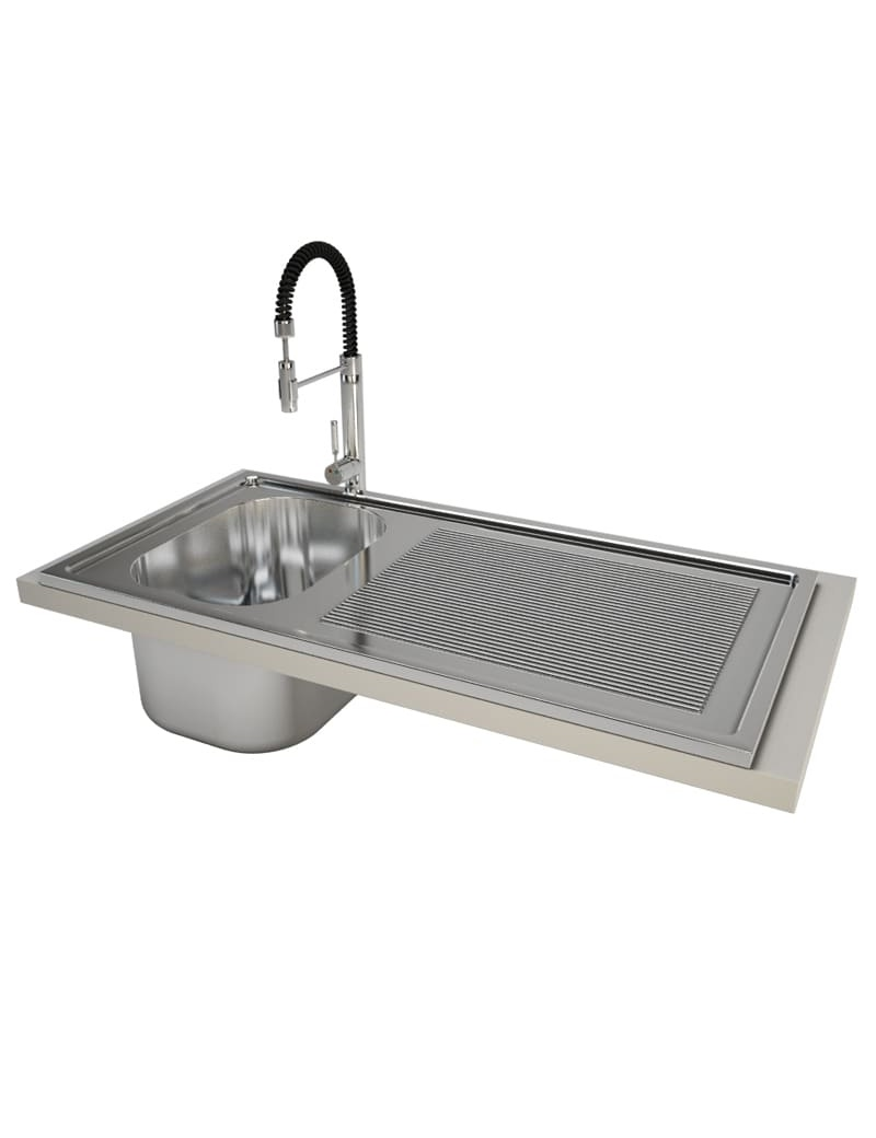 professional-sink-and-mixer-3d-model
