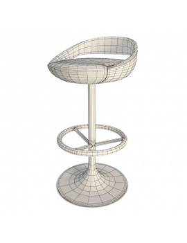 modern-red-bar-stool-3d-wireframe