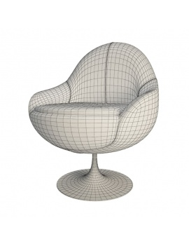 white-cosy-armchair-comete-vauzelle-3d-wireframe