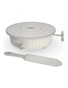 professional-kitchen-equipment-3d-crepe-maker-wireframe