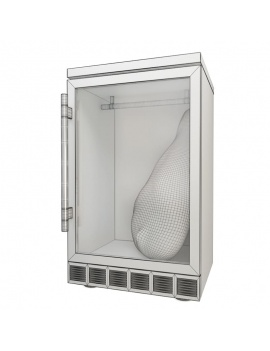 professional-kitchen-equipment-3d-fridge-ham-wireframe