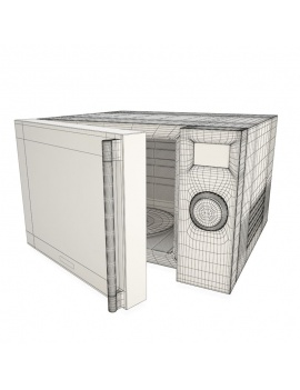 professional-kitchen-equipment-3d-microwave-wireframe