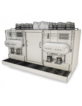 professional-kitchen-equipment-3d-coffee-maker-aguila-wireframe