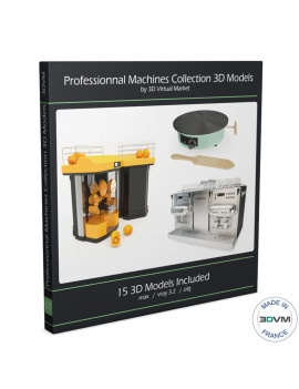 equipements-de-cuisine-professionnelle-3d-collection