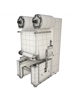 professional-kitchen-equipment-3d-heat-sealing-machine-wireframe