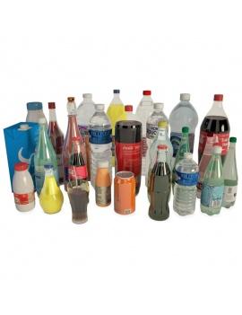 boissons-et-bouteilles-soda-3d