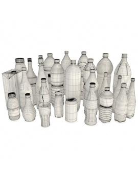 bottles-and-drinks-3d-wireframe