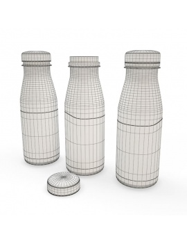 bottles-and-drinks-3d-smoothie-wireframe