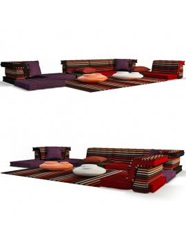 furniture-mah-jong-roche-bobois-3d-table-sofa