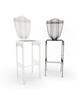 baroque-transparent-furniture-3d-stools-wireframe