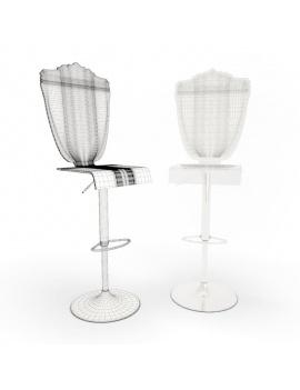baroque-transparent-furniture-3d-stools-adjustable-wireframe