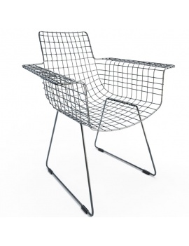 black-wire-chair-3d