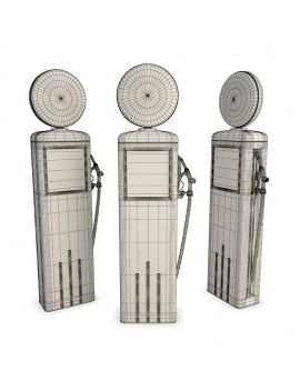 us-gas-pump-retro-3d-wireframe