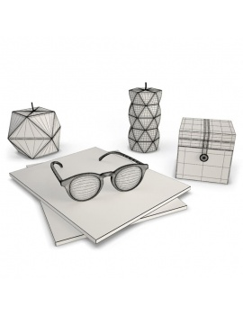 colored-decorative-objects-and-orchids-3d-glasses-candles-box-wireframe