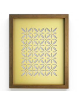 colored-decorative-objects-and-orchids-3d-wall-frame