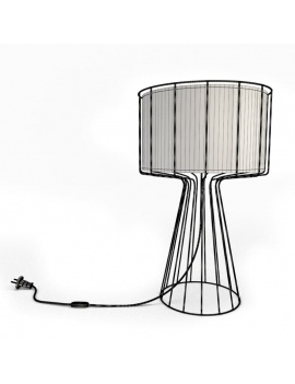 -colored-decorative-objects-and-orchids-3d-lamp-pulse-wireframe