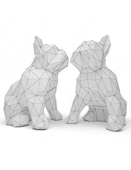bulldog-sculpture-origami-3d-wireframe