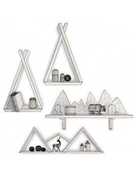 trendy-teepee-shelves-for-kids-3d-wireframe