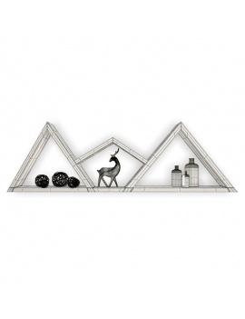 trendy-teepee-shelves-for-kids-3d-moutain-shelf-deer-wireframe