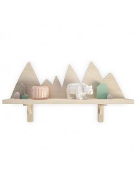 trendy-teepee-shelves-for-kids-3d-moutain-shelf-bear