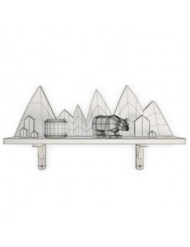 trendy-teepee-shelves-for-kids-3d-moutain-shelf-bear-wireframe