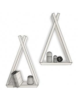 trendy-teepee-shelves-for-kids-3d-tepee-shelf-books-wireframe