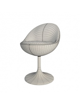 armchair-and-barstool-venus-3d-chair-wireframe