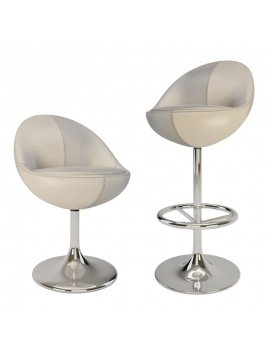 armchair-and-barstool-venus-3d