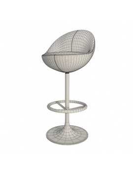 armchair-and-barstool-venus-3d-barstool-wireframe