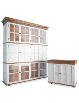 mobilier-de-rangement-en-bois-massif-3d