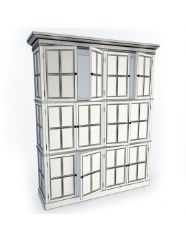 wooden-storage-furniture-3d-white-library-wireframe