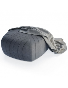 grey-footrest-and-blanket-3d
