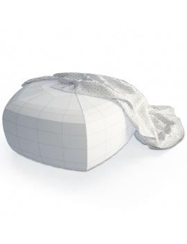 grey-footrest-and-blanket-3d-wireframe