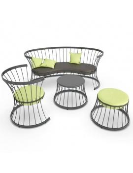 collection-3d-de-mobilier-d-exterieur-en-metal-modele-3d-clessidra