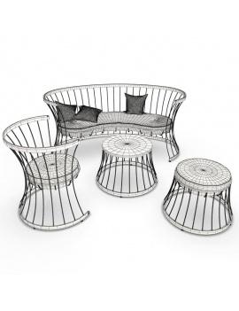collection-3d-de-mobilier-d-exterieur-en-metal-modele-3d-clessidra-filaire