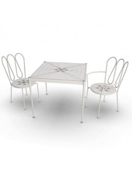 collection-3d-de-mobilier-d-exterieur-en-metal-modele-3d-fleurs-tables-chaises-filaire