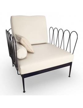 collection-3d-de-mobilier-d-exterieur-en-metal-modele-3d-fleurs-fauteuil